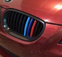 Wholesale Car Body Stripes - 3pcs set Carbon Fiber Kidney 3 color Grill Stripes decals stickers for BMW M3 M5 M6 E46 E39 E60 E90 car styling free shipping
