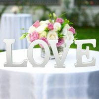 Wholesale Dance Props For Sale - XT-3545 Free shipping Hot sale White LOVE Letters Wedding Table Decoration Photo Booth Props for Bride