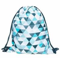 Wholesale Wholesale Gym Drawstring Bags - Women Molle Backpack Softback Hiking Camping Sports Bag Ladies Backpacks 3D Printing Drawstring Outdoor Sport Bags Jan17