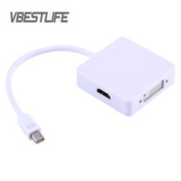 Câble audio VBESTLIFE pour MacBook Pro 3 In1 Thunderbolt Mini DP Mini Displayport vers HDMI DVI Câble adaptateur VGA