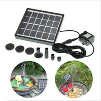 Wholesale 6v Solar Water Pump - 6V Worldwide Solar Pump Fountain 1.5W Submersible Watering Solar Panel Power Pump Home Garden Pool Pond Landscape Fountain