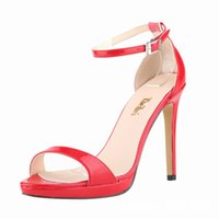 Wholesale Open Toe Color Block Shoes - 2016 spring and summer new Patent leather bow peep toe women sandals color block platform high heels shoes pumps