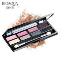 Wholesale Health Purple Colors - Brand Health Beauty Eyeshadow Tool Natural Deep Eye Makeup Elegant Purple Eye Shadow Glitter Palette Plate 8 Colors Long-Lasting Waterproof