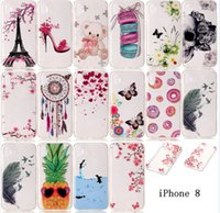 Wholesale Iphone Case White Back Cover - 2017 Newest 16 Patterns Soft TPU Case for 5.1 inch Iphone 8 Cover Iphone 6 6plus IPhone 7 7plus TPU Back Cover