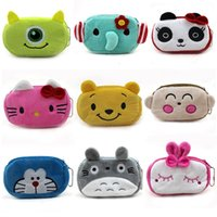 Wholesale Totoro Wallet Wholesale - Women Plush Coin Purse Cute Totoro Hello Kitty Wallets Storage Bags Monederos Card Bags Bolsas Carteira Feminina Coin Bag