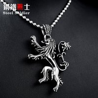 Wholesale game television - Game of Thrones European and American film and television accessories wholesale men lion pendant power game BP8-177