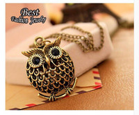 Wholesale Trendy Long Sweaters - Fashion Delicate Cute Owl Small Pendant Long Chain Necklace Women's Trendy Sweater Decoration Accessory
