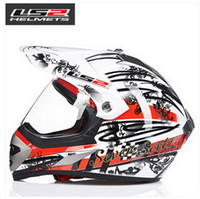 Wholesale Ls2 Mx433 Motorcycle Helmet - LS2 Cross country motorbike ran helmet MX433 professional off-road racing motorcycle helmet made of ABS with lens for four season