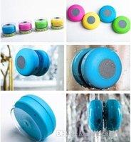 iphone 4s mãos livres venda por atacado-Mini orador impermeável do bluetooth, orador estereofónico Handsfree do carro sem fio do chuveiro para Iphone 4s 5 para o ipad para Samsung