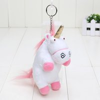 Wholesale Despicable Stuffed Animals - 6'' 15cm Despicable ME Unicorn Plush Toy Unicorn Keychain Keyring pendant Soft Stuffed toys Animal Dolls