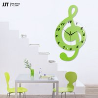 Wholesale Character Watches For Children - For a long time to note the wooden electronic clock mute children room watch cartoon character quartz wall clock
