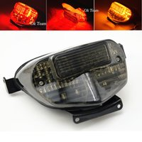 Wholesale Gsxr Signals - 1PCS Motorcycle LED Tail Light With Turn Signals for GSXR 600 750 K1 2000-2003 motorcycle turn lights