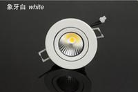 meilleurs luminaires encastrés achat en gros de-Meilleure qualité Meilleur prix 9W Dimmable COB downlight Epistar LED plafonnier encastré blanc / coquille argent vers le bas lumière + pilote led 85V-245V