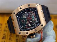 esqueleto de relógio de pulso venda por atacado-3 cores de Luxo AAA de Alta Qualidade Roberto Mancini Esqueleto Automático Mens Watch Esportes dos homens Relógios De Pulso Faixa De Borracha transparente de volta