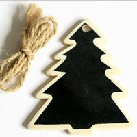 Wholesale Mini Chalkboard Shapes - Christmas Tree Gift Tags - set of 10 Christmas tree shaped Mini Blackboard tags CHRISTMAS TREE jute tie chalkboard gift xmas