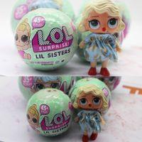 Wholesale Little Plastic Balls - L.O.L Little Surprise Dolls Series 2 Lil Sisters Ball L.O.L. Surprise Doll Small Ball- 7 Layers