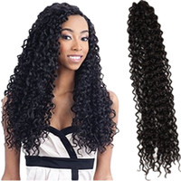 Wholesale braided water - Freetress hair water weave ombre synthetic curly 18inch Free tress water wave,crochet hair extensions,braiding hair bulks,crochet braids