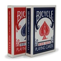 Купить Карты Оптовых Колод-Original Bicycle Poker 2pcs / set цена Red + Blue Bicycle Regular Игральные карты Rider Back 808 Sealed Decks