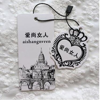 Wholesale Clothes Cards Price Tags - garment tags custom hang tag clothing price paper hanging tags labels, custom logo brand printing clothes labels tags
