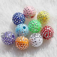 Wholesale Berry Beads Acrylic - 100PCS Top Quality Colors 8mm Iridescent Solid Opaque Silver Dots Acrylic Berry Beads Gumball Neckalce Girl Jewelry Making