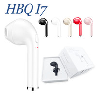 Wholesale Headphone Bluetooth For Iphone - New Arrival HBQ I7 Wireless Single Ear Bluetooth Headset 4.1 Stereo Music Earbud Wireless Invisible Headphones Headset for iPhone Android