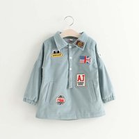 Wholesale Corduroy Shirt Dresses - Girls Tops Blouses Long Sleeve T Shirts Korean Girl Dress Child Shirt 2016 Autumn Shirts Sale Children Clothes Kids Clothing Lovekiss C28362