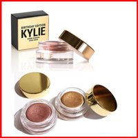 Wholesale Wholesale Cream Eyeshadow - Kylie Birthday Edition Creme eye Shadow Eyeshadow Cream Makeup Creme Copper And Rose Gold 2colors Kyshadow Kit Kylie Cosmetics free shipping
