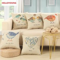 Wholesale Decorating Sofa - BZ003 Luxury Cushion Cover Pillow Case Birds Flowers cushions vintage lucky design sofa decorate throw pillow office sofa