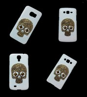 Wholesale Case S2 3d - 3D Vintage Retro Bronze Skull Skeleton Punk Rivet Stud Hard Back Cover Case for Samsung Galaxy S2 S3 S4 S5 S6 Edge Plus S6 Active S7 S7 Edge
