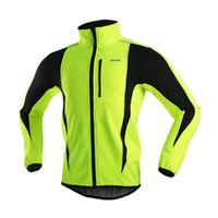 arsuxeo ceket toptan satış-2016 Arsuxeo termal polar erkek bisiklet kış bisiklet ceket erkekler jersey dağ bisikleti ceketler nefes rüzgar geçirmez giyim