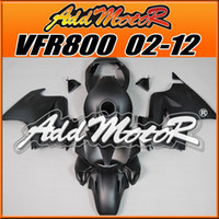 Barato Melhor Carenagem-New Arrival Addmotor Best Selling Molde de Injeção Carenagens Corpo Fit Honda VFR800 2002-2012 VFR800 02-12 Matte Black H8209 +5 Free Presentes