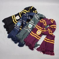 Wholesale Harry Potter Scarf Ravenclaw - 2016 Fashion Harry Potter Scarves Winter warm scarf Ravenclaw Scarf Gryffindor Scarf Magic School Slytherin Scarves Christmas Gift