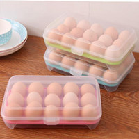 Wholesale Food Container Organizer - Single Layer Durable Multifunctional Kitchen Tool 15 Grids Eggs Food Container Organizer Convenient Storage Boxes