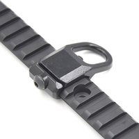 Wholesale Rail Attachments - Alonefire Steel GBB Sling Mount Plate Adaptor Attachment fits 20mm Picatinny Rail Color Black Hunting Accessories-1PC M71