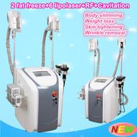 Wholesale Body Rf Handle - fat freezing Liposuction body slim fat reducing machine 40K Ultrasonic cavitation multipolar rf 2 fat freeze handles can work together