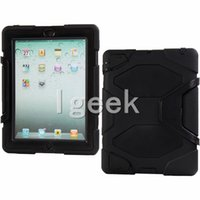Wholesale Ipad Cases Free - 50PCS ShockProof cover Defender Protecting Hybrid Silicon PC Shell Case Cover for iPad 2 3 4 Air 2 free DHL