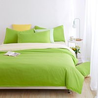 Wholesale Minimalist Bedding Sets Apple green Duver Quilt Cover Bed Sheet Beige Pillowcase Soft and Comfortable King Queen Full Twin