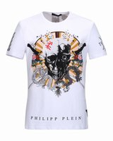 Wholesale Washing Collared Shirts - New sales of foreign trade real tide brand summer T-shirt mens T-shirt crew collar and cotton skulls print man short sleeve