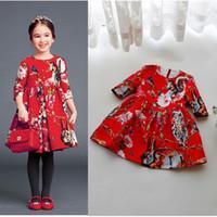 Wholesale Nova Kids Dresses - Retail 2017 Girls Dresses New Girl Print Flower Tutu Princess Dresses Animal Children Clothing Kids Nova Party