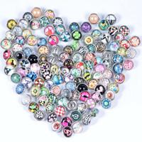 ingrosso braccialetto di rhinstone-Fashionn hot 50 pz / lotto molti stili Rhinstone bottoni a pressione per 12mm con bottone a pressione gioielli fit bracciali in pelle di fascino spedizione gratuita rendendo ebreo
