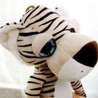 Cute Cartoon Tiger Peluche Peluches Big Eyes Giraffe Jouet pour enfants Schattige Knuffel Sleeping Baby Doll Toys For Girls 50G0504