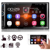 bluetooth hd dvd oynatıcı toptan satış-7 '' HD Dokunmatik Ekran 2Din Araba Radyo MP5 FM AUX Çalar Bluetooth USB Ses girişi Ücretsiz Kargo