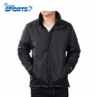 Wholesale Men Rain Coat Suit - Wholesale-New Long Sleeve Outdoor Softshell Jacket Men Waterproof Coat Climbing Fishing Hiking Rain Jacket Sport Suit
