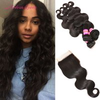 Wholesale Lace Closure Body Curl Wave - Peruvian Body Wave Hair With Closure Modern Queen Body Wave Human Hair Lace Closure And 4 Bundles Cheap Peruvian Curl Hair Extension Wefts