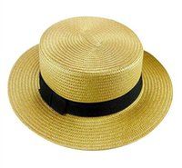Wholesale Cool Unisex Straw Hat Outdoor Soft Panama Caps Summer Stingy Brim Fedora Beach Sun Hats Colors Choose