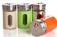 Wholesale Glass Powder Container - 4.5x8.5CM Spices Container Sugar Flour Salt Pepper Shaker Powder Storage Seasoning Glass Jar Bottle Herb & Spice Tools
