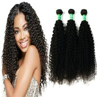 Виргинские перуанские волосы Curly Hair Weave 3 Bundles 100% Unprocessed Remy Hair Extensions 10-28 Inches Full End Natural Black Factory Price