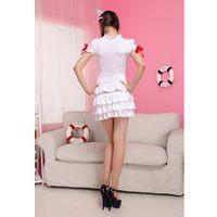 Wholesale Hot Nurse Uniform - Hot Halloween New Sexy white nurse uniform cosplay costume