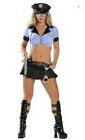 Wholesale Sexy Bikini Porn - new women sexy lingerie hot cosplay USA police uniform halloween sexy costumes erotic lingerie bikini porn sexy underwear 122