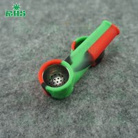 Wholesale Green Smoke Wholesale Pricing - wholesale price foldable tabacco silicone smoking pipes with full colros portable and fasion DHL free S-03